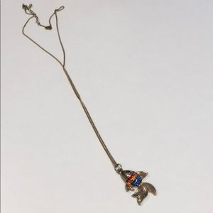 Rainbow Koi Fish necklace